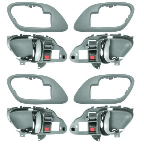 1995-02 Chev PU Truck Int Door Handle & Bezel Gray & Chrome Set of 4