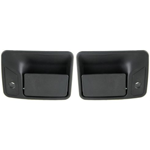 1999-10 Ford Super Duty PU Textured Black Ext Front Door Handle PAIR