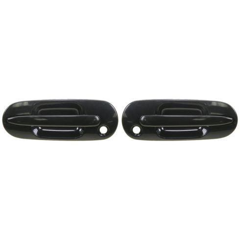 1997-01 Honda CR-V Black Outside Door Handle Front PAIR