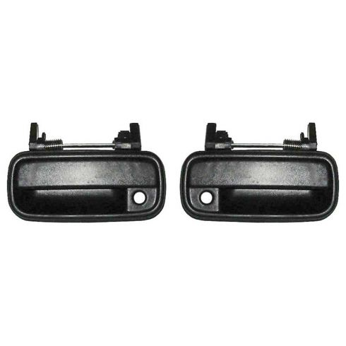1989-95 Toyota Pickup Door Handle Outside Black Front PAIR