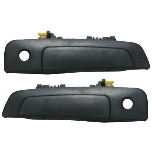 2000-04 Sebring Eclipse Coupe Black Textured Door Handle Outside PAIR