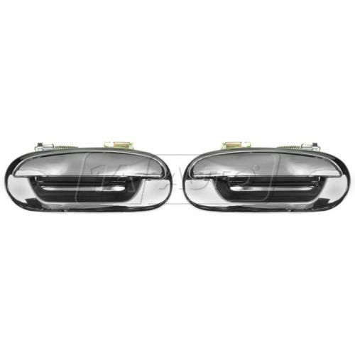 1997-03 Ford F150 250 Door Handle Outside Rear All Chrome PAIR