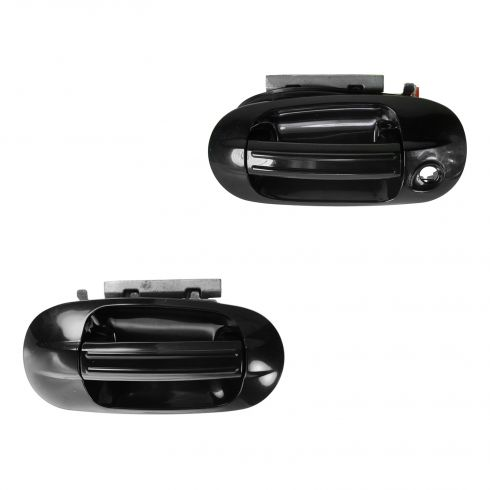 2003-09 Ford Expedition Gloss Black Outside Door Handle Front PAIR