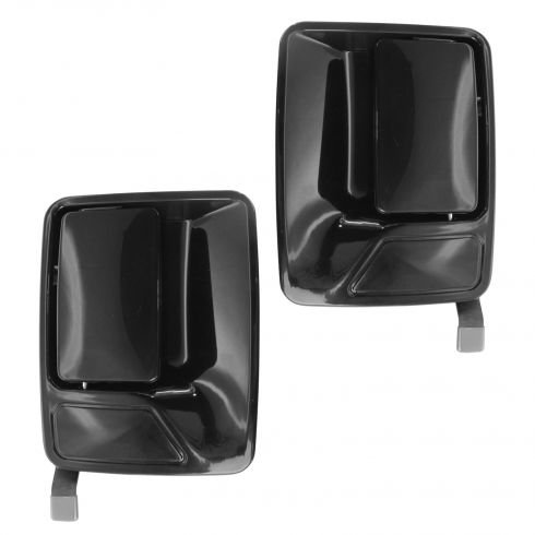 1999-09 Ford Super Duty PU Smooth Black Outside Door Handle Rear PAIR