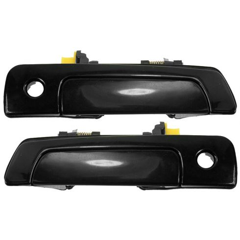 2000-04 Sebring Eclipse Coupe Gloss Black Door Handle Outside PAIR