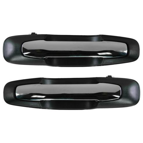 1999-05 Suzuki Grand Vitara Chrome & Black Outside Door Handle Front PAIR