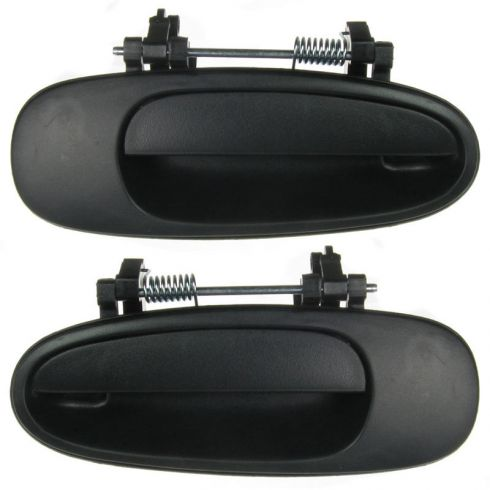 1993-97 Corolla Ext Door Handle RR (Textured Black) Rear PAIR