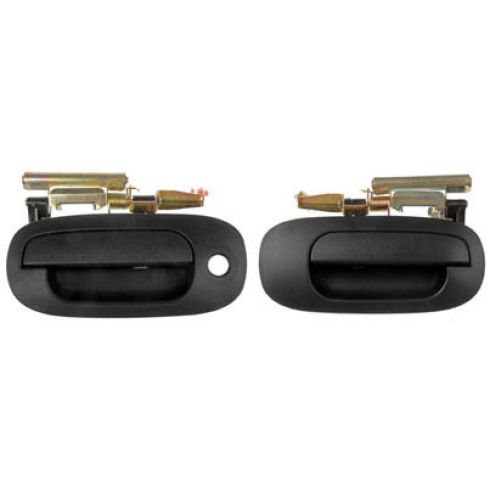2004 Dodge Dakota, 03 Durango Ext Textured Door Handle Front PAIR
