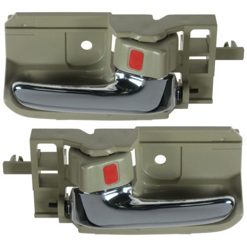 2003-08 Corolla Door Handle Inside Tan & Chrome PAIR