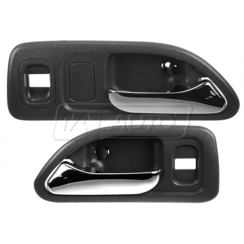 1994-97 Honda Accord Sedan Inside Door Handle Black Front PAIR