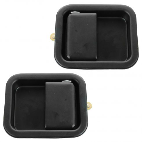 97-06 Jeep Wrangler Full Door Outside Black Door Handle PAIR