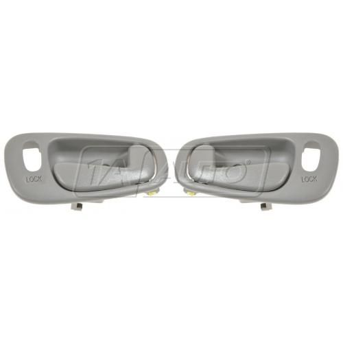 98-02 Chevy Prizm, Toyota Corolla w/Pwr Locks Dk Gray Inside Door Handle Front  PAIR