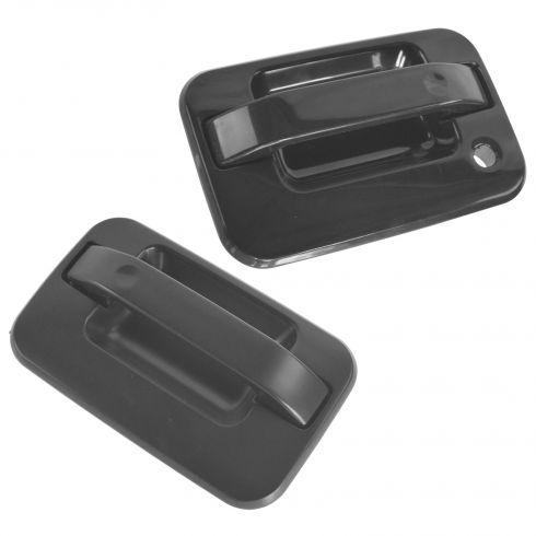 2004-10 Ford F150; 06-08 Lincoln Mark LT Outside Front Door Handle Gloss Black w/o Keyless PAIR