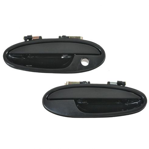 2000-05 Buick Lesabre, Pontiac Bonneville; 01-03 Olds Aurora Front Outside Door Handle Smooth Blk PAIR