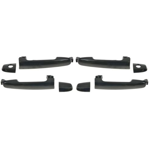 2001-11 Scion, Toyota Multifit Front Outside Door Handle Black (Set of 4)