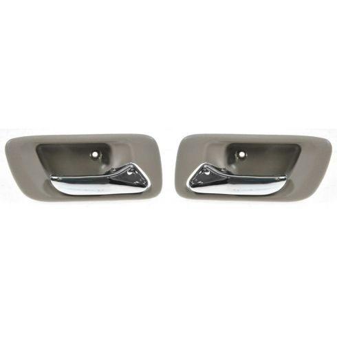 98-02 Honda Accord 4dr; 99-04 Odyssey w/o Pwr Locks Inside Door Handle Beige PAIR