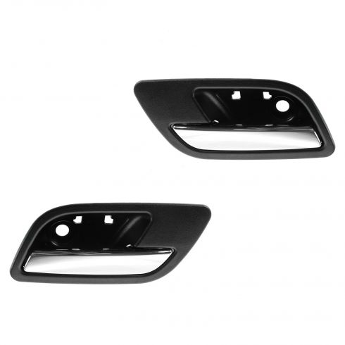 07-12 GM Full Size PU & SUV Rear Door Inside Handle (Ebony & Chrome) PAIR