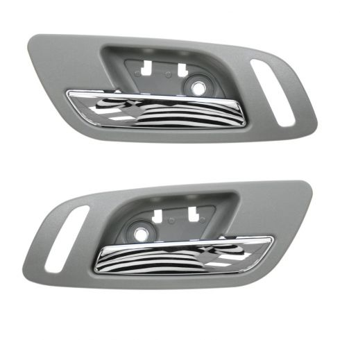 07-12 GM Full Size PU & SUV w/Htd Seat & w/o Memory Frnt Door Inside Handle (Titanium & Chrome) PAIR