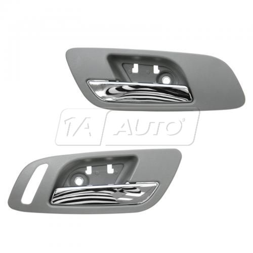 07-12 GM Full Size PU & SUV w/o Htd Seat or Memory Front Door Inside Handle (Titanium & Chrome) PAIR
