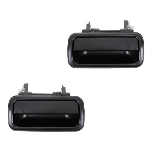 98-04 Isuzu Rodeo; 99-02 Passport Rear Outside Smooth Black Door Handle PAIR