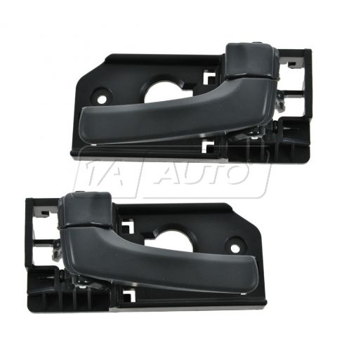 06-12 Kia Sedona; 07-10 Hyundai Entourage Front Inside Gray Door Handle PAIR