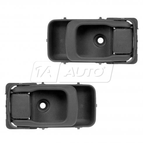 95-97 Nissan Sentra RF = RR; 98-99 200SX Gray Inside Door Handle PAIR