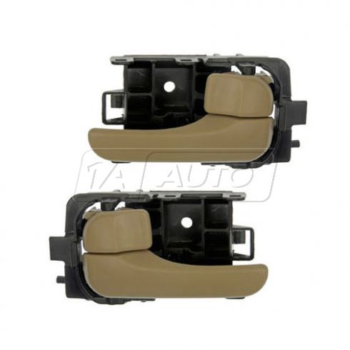00-03 Nissan Sentra Smooth Beige Inside Door Handle PAIR