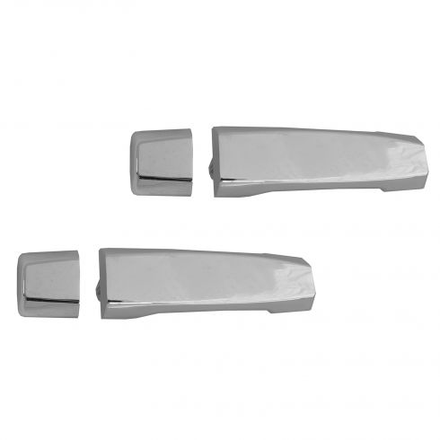 04-12 Nissan Titan Crew Cab Rear Outer Chrome Door Handle w/Escutcheon PAIR