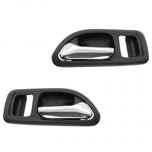 94-97 Honda Accord Cpe (w/o Power Locks) Inside Black Door Handle PAIR