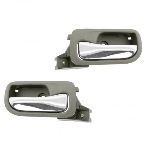 03-07 Honda Accord Sedan Rear Inside Taupe Door Handle PAIR