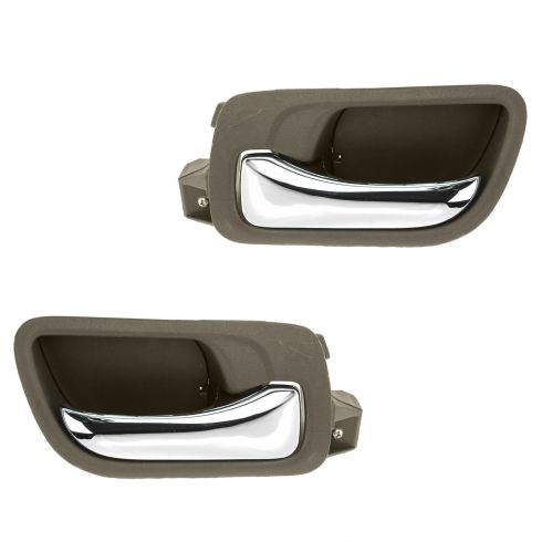 03-07 Honda Accord Sedan Front Inside Taupe Door Handle PAIR