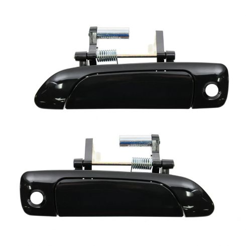 01-05 Honda Civic Cpe & Sdn; 02-05 Civic Hatchback Front Outer Smooth Black Door Handle Pair