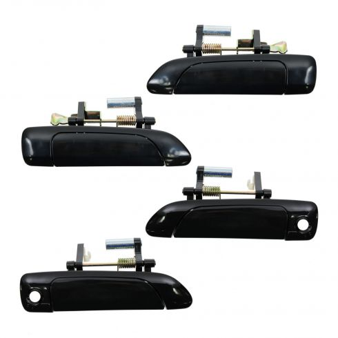 01-05 Honda Civic Outer Smooth Black Door Handle Set of 4