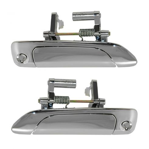 01-05 Honda Civic Cpe & Sdn; 02-05 Civic Hatchback Front Outer ALL CHROME Door Handle Pair