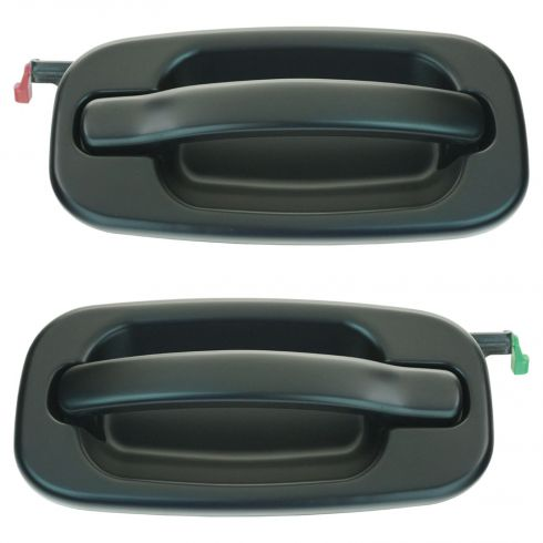 99-07 GM Full Size Pickup, SUV Rear Door Gloss Black Outer Door Handle PAIR