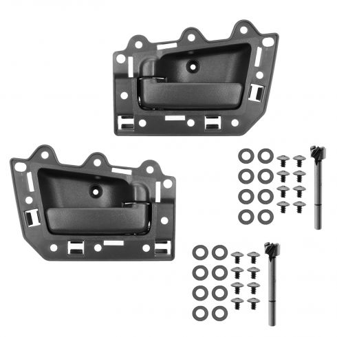 05-10 Jeep Grand Cherokee Front Inner All Black Door Handle Repair Kit PAIR