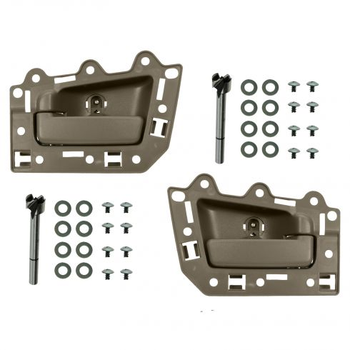 05-10 Jeep Grand Cherokee Rear Inner All Light Brown Door Handle Repair Kit PAIR
