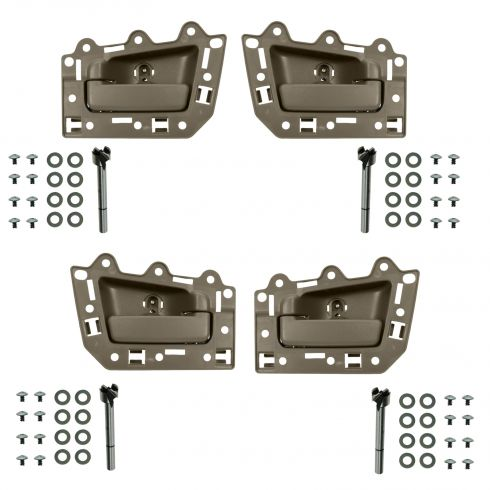 05-10 Jeep Grand Cherokee Front & Rear Inner All Light Brown Door Handle Repair Kit (Set of 4)