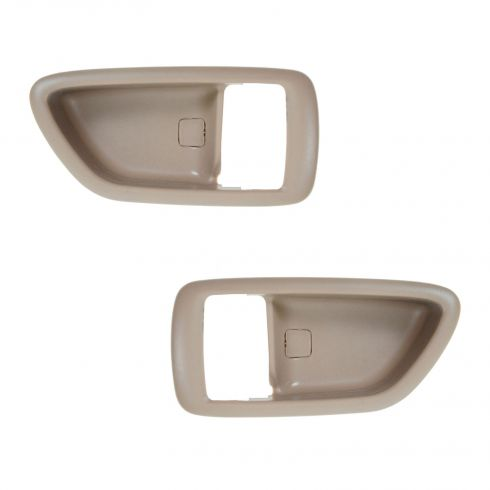 04-06 Toyota Tundra (Double Cab); 01-07 Sequoia; 00-04 Avalon Oak Inside Door Handle Bezel PAIR