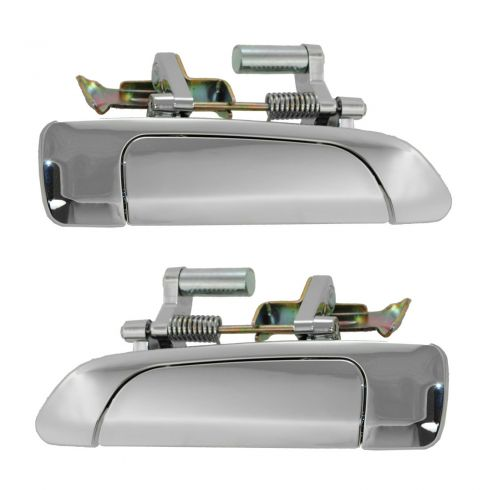 01-05 Honda Civic Sedan Rear Outer ALL CHROME Door Handle PAIR