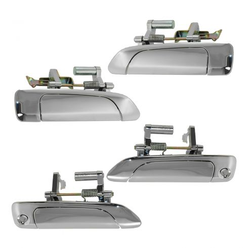 01-05 Honda Civic Sedan Outer ALL CHROME Door Handle Set of 4