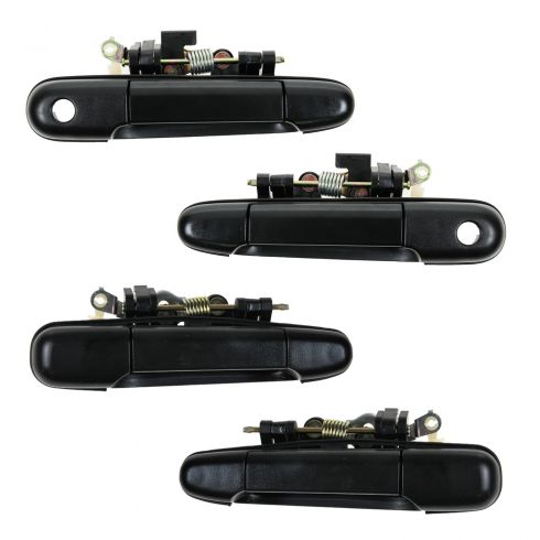 91-94 Toyota Tercel Front & Rear Exterior Black Door Handle (Set of 4)