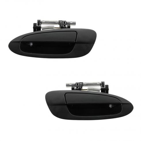 02-06 Nissan Altima Rear Outer Smooth Black Door Handle PAIR