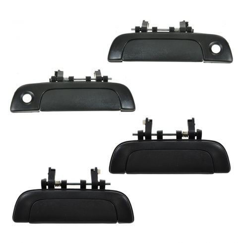 95-02 Suzuki Esteem Black Outside Front & Rear Door Handle (Set of 4)