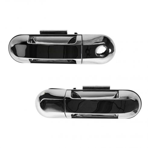 02-10 Explorer, Mountaineer; 03-04 Aviator; 07-10 Exp Spt Trac Chrome Frt Door Outer Handle PAIR