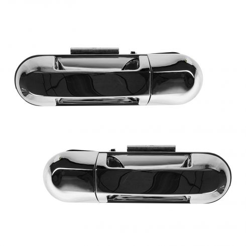 02-10 Explorer, Mountaineer; 03-04 Aviator; 07-10 Exp Sport Trac Rear Door Outer Chrome Handle PAIR