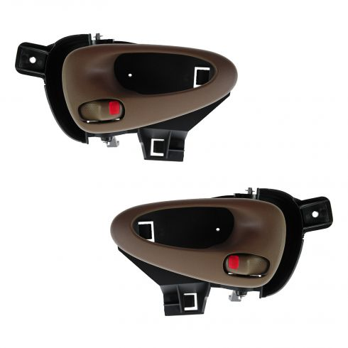 99-05 Pontiac Grand Am Rear Inner Oak Door Handle PAIR
