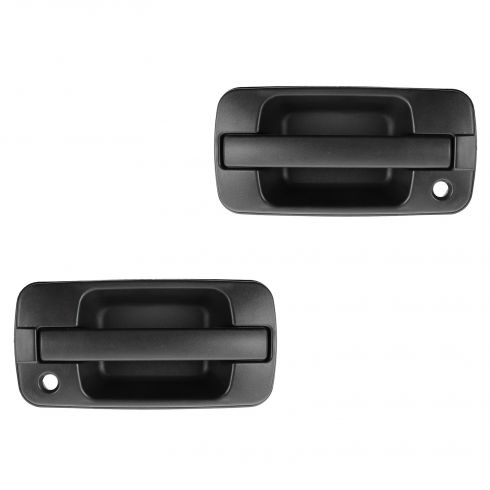 96-99 Acura SLX; 98-02 Trooper Front Outer Textured Black Door Handle PAIR