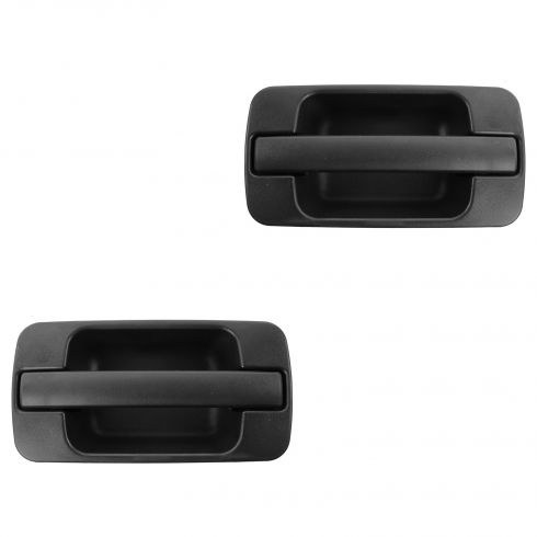 96-99 Acura SLX; 98-02 Trooper Rear Outer Textured Black Door Handle PAIR