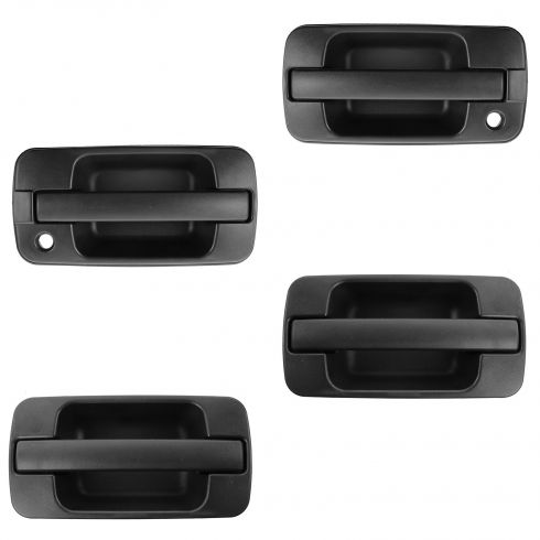 96-99 Acura SLX; 98-02 Trooper Front & Rear Outer Textured Black Door Handle Kit (Set of 4)